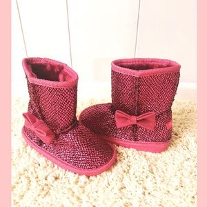 Toddler Girl Pink sparkly boots - NWOT
